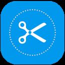 Cortador de imagem em circulo icone